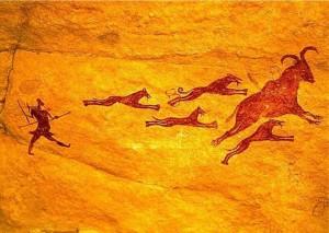 pintura-rupestre-tassili-perros